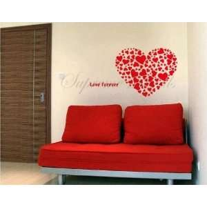 Wall decal    Big Red Heart    Wall Art Home Decors Murals Removable
