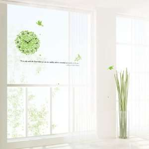 IVY Clock removable Vinyl Mural Art Wall Sticker Decal