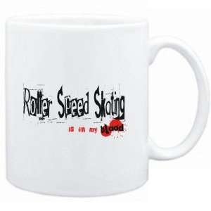Mug White  Roller Speed Skating IS IN MY BLOOD  Sports