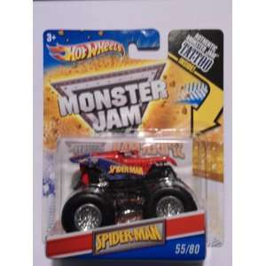 HOT WHEELS SPIDERMAN MONSTER JAM TRUCK TATTOO SERIES 164 SCALE #55/80