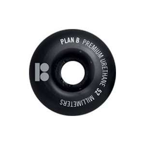 Plan B Blackout Series 52MM Skateboard Wheels (Set of 4):