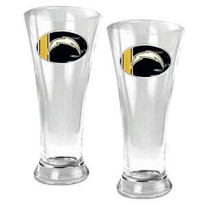San Diego Chargers NFL 2pc 16oz Pilsner Glass Set Sports