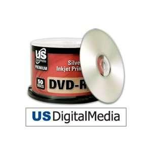 USDM Premium DVD R Silver Inkjet Printable 16x