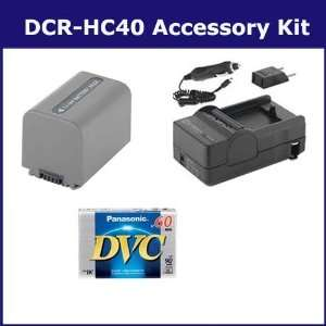 Sony DCR HC40 Camcorder Accessory Kit includes SDNPFP70 Battery, SDM
