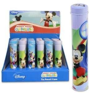 Mickey 7.5l Pencil Tin Box Pencil Holder with Lid   Blue