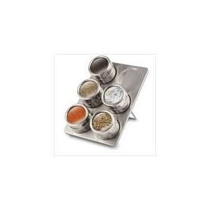 Home Kitchen Accessory Magnetic Spice Rack Jar Set  Home