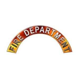 Fire Department Real Fire Firefighter Fire Helmet Arcs / Rocker Decals
