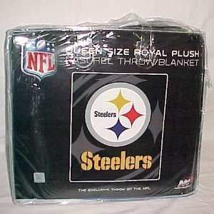 NFL Pittsburg Steelers King Size Super Plush Mink Blanket