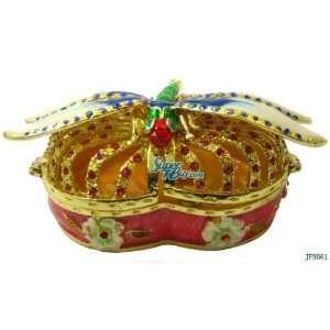 Box Bejeweled Swarovski Crystal Diamond Jewelry Trinket Box (JF8061