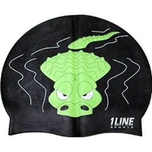 1Line Sports Gator Silicone Swim Cap