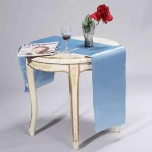 Satin Table Runner Chair Sash Chair Tie   Light Blue