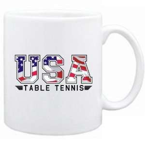 New  Usa Table Tennis / Flag Clip   Army  Mug Sports