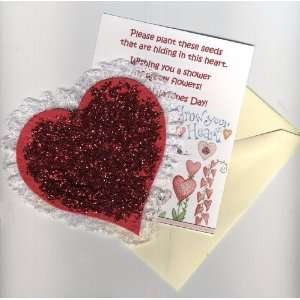 Red Heart Valentine Flat Card