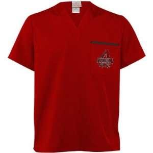 Arizona Diamondbacks Sedona Red Scrub Top Sports & Outdoors