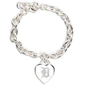 MLB Detroit Tigers Bracelet   Heart Charm Sports