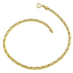 14 Karat Yellow Gold 2.5 mm Tiger Eye Bracelet (8 Inch) Jewelry