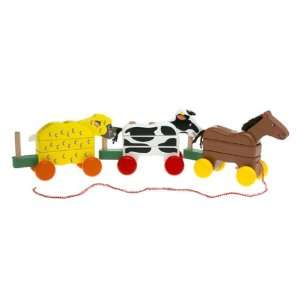 Melissa & Doug Pull Along Farm Animals  Toys & Games