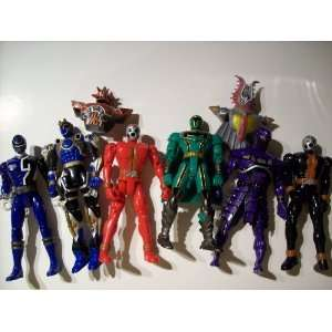 Six Loose Power Ranger Action Figures Toys & Games