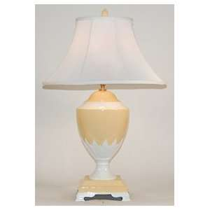 Yellow and White Large Traditional Table Lamp