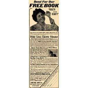 1908 Ad White Cross Electric Vibrator Shoulder Neck Arm