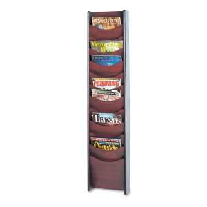 com Safco  Solid Wood Wall Mount Literature Display Rack, 12 Pockets