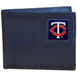 MLB Minnesota Twins Leather Bi fold Wallet