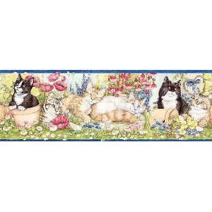 Wallpaper Borders on Cats Wallpaper Border In Bright Ideas  Home Improvement