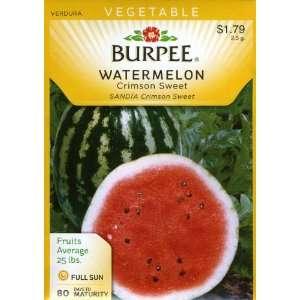 Burpee 64899 Watermelon Crimson Sweet Seed Packet Patio