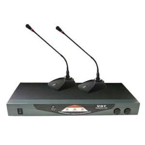Dual Table Top VHF Wireless Microphone System Electronics
