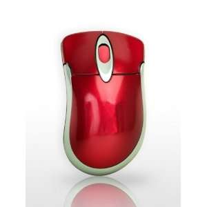 RED NOTEBOOK LAPTOP COMPUTER PC WIRELESS OPTICAL MOUSE Electronics