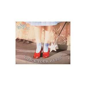 Wizard of Oz Ruby Slippers Metal Sign  Kitchen & Dining