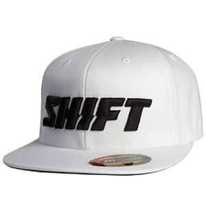 SHIFT CASUALS WORD 210 FITTED HAT WHITE LG/XL 7 1/4   7 5