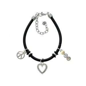 Peace   Yin Yang   Black Peace Love Charm Bracelet [Jewelry] Jewelry