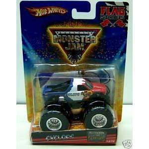Hot Wheels 2010 Monster Jam Classics Flag Series Cyclops Monster Truck