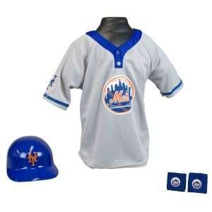 New York Mets MLB Youth Helmet and Jersey Set