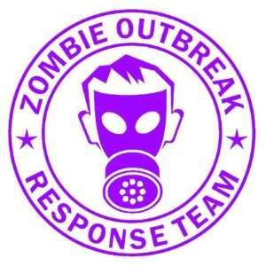 Zombie Outbreak Response Team IKON GAS MASK Design   5 PURPLE   Vinyl