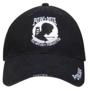 9369 DELUXE LOW PROFILE CAP BLK   POW / MIA Clothing