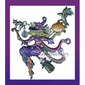 KIRKS FOLLY DIVINE DIVA WITCH PIN/BROOCH NEW Toys & Games
