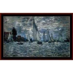 Boats at Regatta, Cross Stitch from Cross Stitch