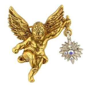 Host of Angels Gold Cherub Brooch Jewelry