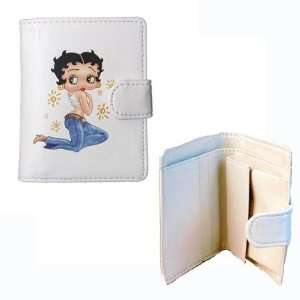 Betty Boop Blue Jeans small wallet (White) Everything