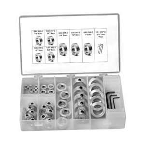 Climax 38pc 1/4 1 Set Screw Steel Set Collar Kit: Home