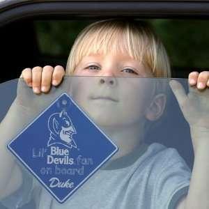 NCAA Duke Blue Devils Lil Fan On Board Car Sign Sports