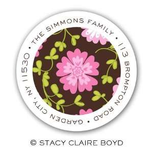 The Secret Garden Round Return Address Labels Office