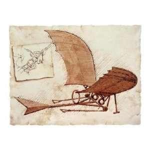 Leonardo Da Vinci   Flying Machine Giclee