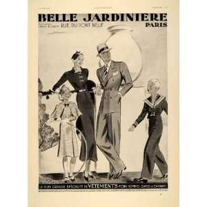 1934 French Ad Fashion Belle Jardiniere Paris Art Deco