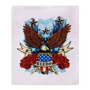 Blanket Freedom Eagle Emblem with United States Flag
