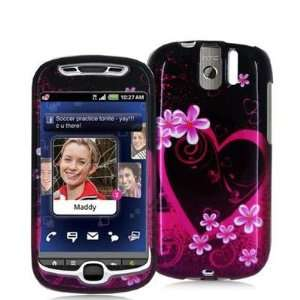 Purple Love Design Crystal Hard Skin Case Cover for HTC T