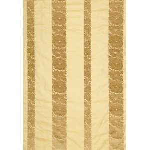 Mandarin Silk Stripe Gold Dust by F Schumacher Fabric