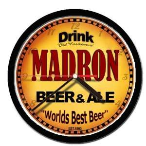 MADRON beer and ale cerveza wall clock: Everything Else